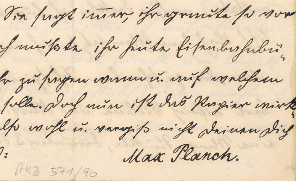 Η υπογραφή του Planck σε ηλικία 10 ετών